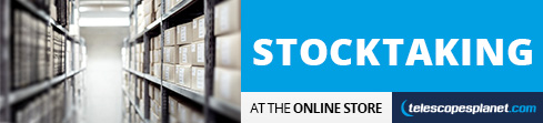 The stocktaking at the online store!
